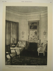 Corner of the Boudoir in the Residence of Mr. and Mrs. James Ward Throne , Santa Barbara, CA, 1930, Elmer Clark