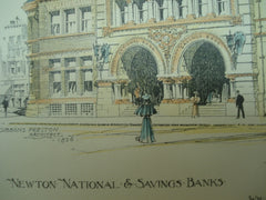 Newton National & Savings Banks, Newton, MA, 1896, Wm. Gibbons Preston