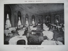 Main Dining Room in the Copley-Plaza Hotel , Boston, MA, 1912, Mr. H.J. Hardenbergh
