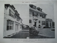 House of Mrs. P.H. Lombard , Chestnut Hill, Brookline, MA, 1912, Mr. James Purdon