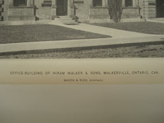 Office Building of Hiram Walker & Sons, Walkerville, Ontario, CAN, 1897, Mason & Rich