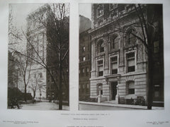 Engineers' Club, West Fortieth Street, New York, NY, 1907, Whitfield & King