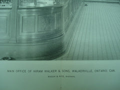 Main Office of Hiram Walker & Sons, Walkerville, Ontario, CAN, 1897, Mason & Rich