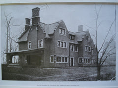 House of George M. Loughlin, Esq., Woodland Road , Pittsburgh, PA, 1907, McClure & Spahr
