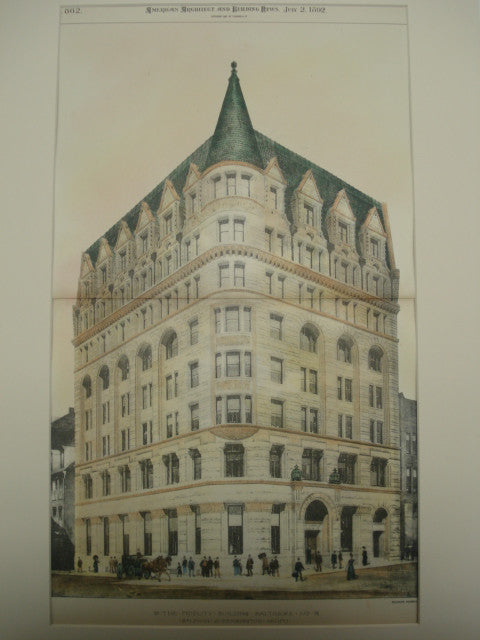 Fidelity Building, Baltimore, MD, 1892, Baldwin & Pennington