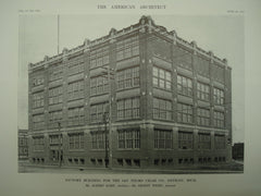 Factory Building for the San Telmo Cigar Co., Detroit, MI, 1912, Mr. Albert Kahn