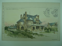 House for M. S. Severance, Esq., Los Angeles, CA, 1889, Curlett, Eisen & Cuthbertson