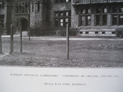 Ryerson Physical Laboratory: Chicago University , Chicago, IL, 1907, Henry Ives Cobb
