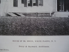 House of Dr. Irwin , White Plains, NY, 1907, Petry & Sayward