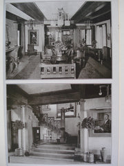 Interior Views of the House of Harry Rubens, Esq. , Glencoe, IL, 1907, George W. Maher