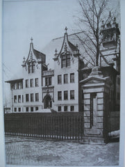 End View of a School Building: Ohio Institution for the Education of the Deaf and Dumb, Columbus, OH, 1907, Richards, McCarty & Bulford
