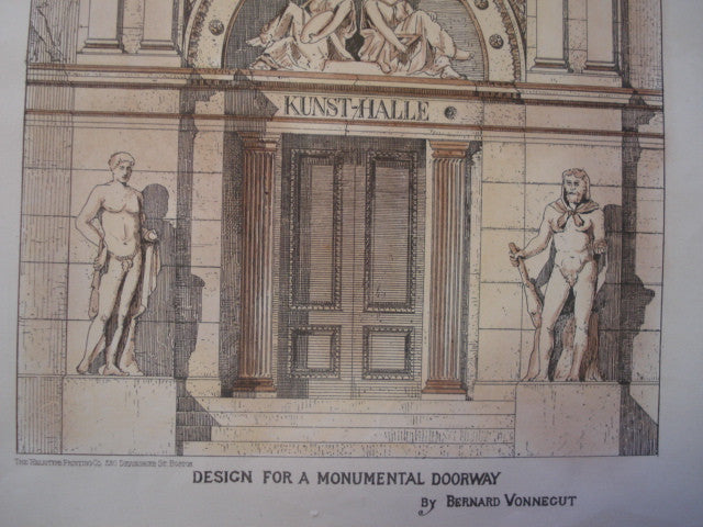 House for a Design For A Monumental Doorway by Bernard Vonnegut (Kurt Vonnegut's Grandfather), Unknown, 1878, Bernard Vonnegut