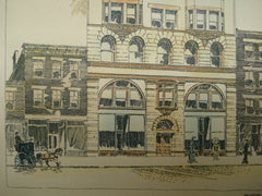 Design for the Store and Apartment Building for the Bennet and Peck Heating Company, Cincinnati, OH, 1893, W. Martin Aiken