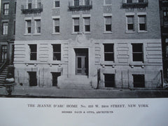 Jeanne d'Arc Home, No. 253 W. 24th Street , New York, NY, 1912, Messrs. Daus & Otto