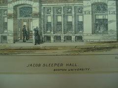 Jacob Sleeper Hall at Boston University, Boston, MA, 1883, Wm. G. Preston
