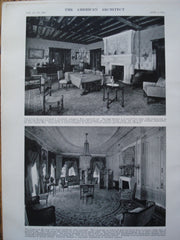 Living Room & Salon in the House of R.A. Long, Esq. , Kansas City, MO, 1912, Messrs. Howe & Hoit