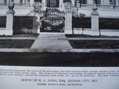 House of R.A. Long, Esq., Kansas City, MO, 1912, Messrs. Howe & Hoit