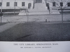 City Library , Springfield, MA, 1912, Mr. Edward L. Tilton