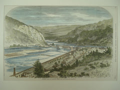 Scene of a General View of Harper's Ferry and the Maryland Heights , 1861, n/a