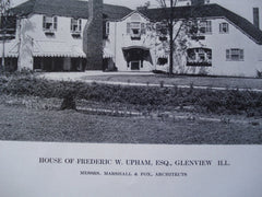 House of Frederic W. Upham, Esq., Glenview, IL, 1912, Messrs. Marshall & Fox