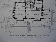 House of Dr. George Woodward , St. Martin's, PA, 1912, Messrs. Goodwin & Hawley