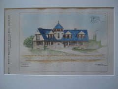 House for Dr. F. Danne (View from the Harbor) , Bristol, RI, 1897, Clarke & Spaulding