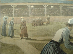 Depiction of a Ladies' Baseball Match, 1890, n/a