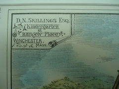 Kindergarten for D. N. Skillings, Esq. at Rangely Place, Winchester, MA, 1878, J. F. Ober & G. D. Rand