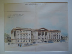 Middlesex Registry of Deeds and Probate Court, Cambridge, MA, 1897, Olin W. Cutler