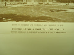 Chicago Lying-In Hospital , Chicago, IL, 1915, Messrs. Richard E. Schmidt, Garden & Martin