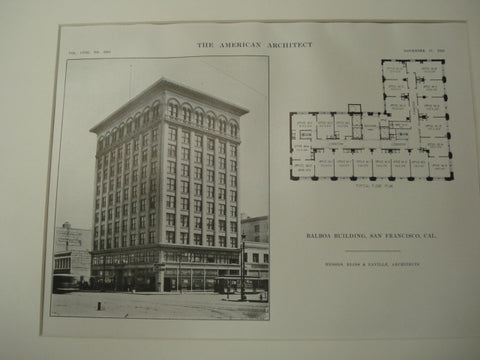 Balboa Building , San Francisco, CA, 1915, Messrs. Bliss and Faville