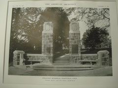 Soldier's Memorial , Westville, CT, 1915, Brown and Von Beren