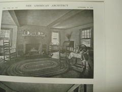 Interior of the Washington Rock Lodge, North Plainfield, NJ, 1915, Wilder and White