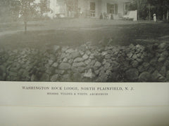 Washington Rock Lodge, North Plainfield, NJ, 1915, Wilder and White