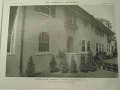 House of Dr. Frederic J. Hughes, Plainfield, NJ, 1915, Wilder and White