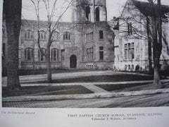 First Baptist Church School , Evanston, IL, 1924, Tallmadge & Watson