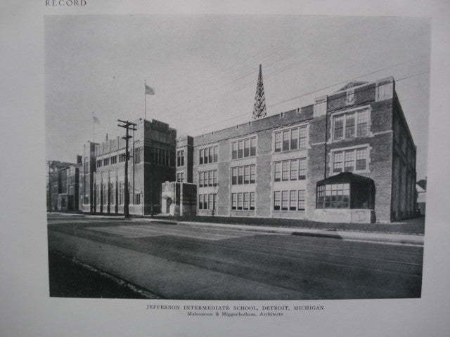 Jefferson Intermediate School , Detroit, MI, 1924, Malcomson & Higgenbotham