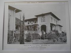 House of Mrs. M. C. Russell, Hollywood, CA, 1915, Elmer Grey