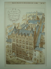 New Premises for Messrs. Martin & Martins on Granville St., Birmingham, England, UK, 1891, Essex & Nicol