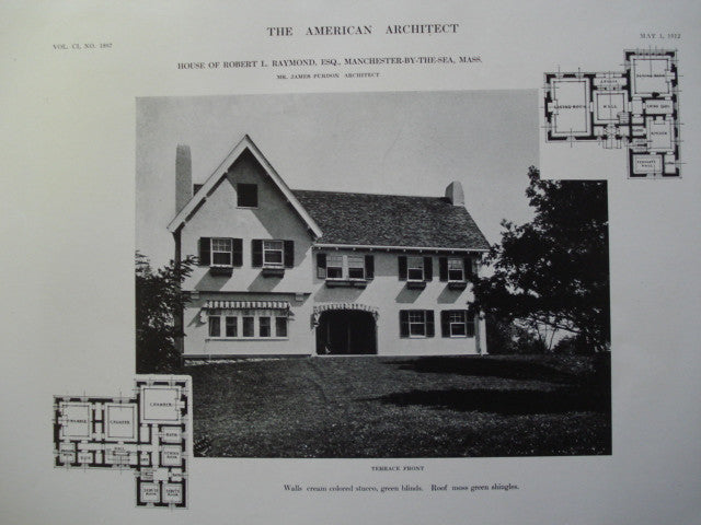 House of Robert L. Raymond, Esq., Manchester-by-the-Sea, MA, 1912, Mr. James Purdon