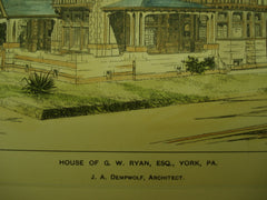 House of G. W. Ryan , York, PA, 1899, J. A. Dempwolf
