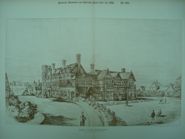 Abbey Hotel , Kenilworth, England, UK, 1891, Essex & Nicol