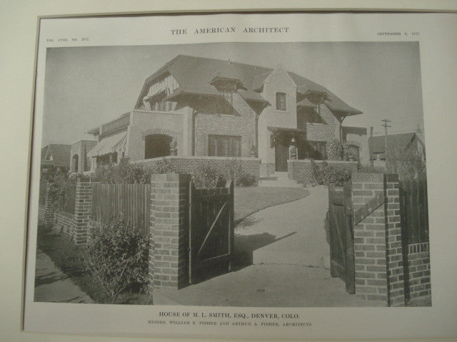 M. L. Smith House, Denver, CO, 1915, Fisher and Fisher