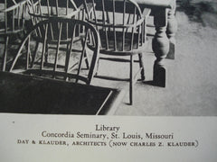 Library at Concordia Seminary , St. Louis, MO, 1928, Day & Klauder