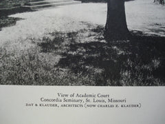 View of the Academic Court at Concordia Seminary , St. Louis, MO, 1928, Day & Klauder