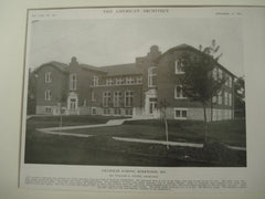 Grammar School, Kirkwood, MO, 1915, William B. Ittner