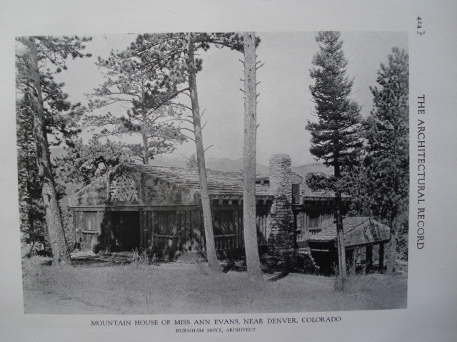 Mountain House of Miss Ann Evans , Near Denver, CO, 1928, Burnham Hoyt