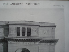 Detail of the Pavilion on the Public Library, St. Louis, MO, 1912, Cass Gilbert