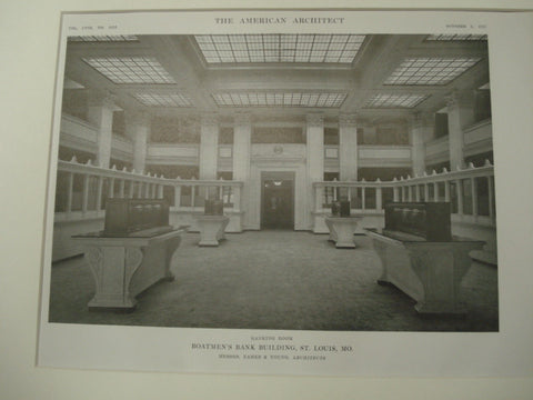 Banking Room, Boatman's Bank Building, St. Louis, MO, 1915, Eames and Young