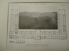 Floor Plan, Cook County Infirmary, Lake Forest, IL, 1915, Schmidt, Garden and Martin